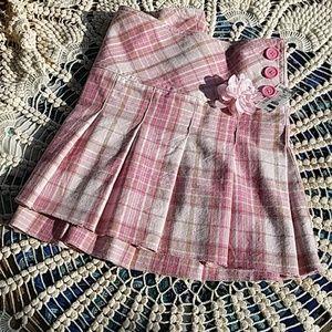 NWT 11/12 Aeropostale pleated pink plaid skirt